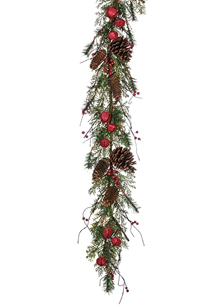 Amazon Com Sullivans Christmas Greenery Garland Pine Cone Jingle