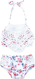 Culater 2019 Bikini per Bambini Costume da Bagno Beach Shell Flower + Shorts Set da Bagno