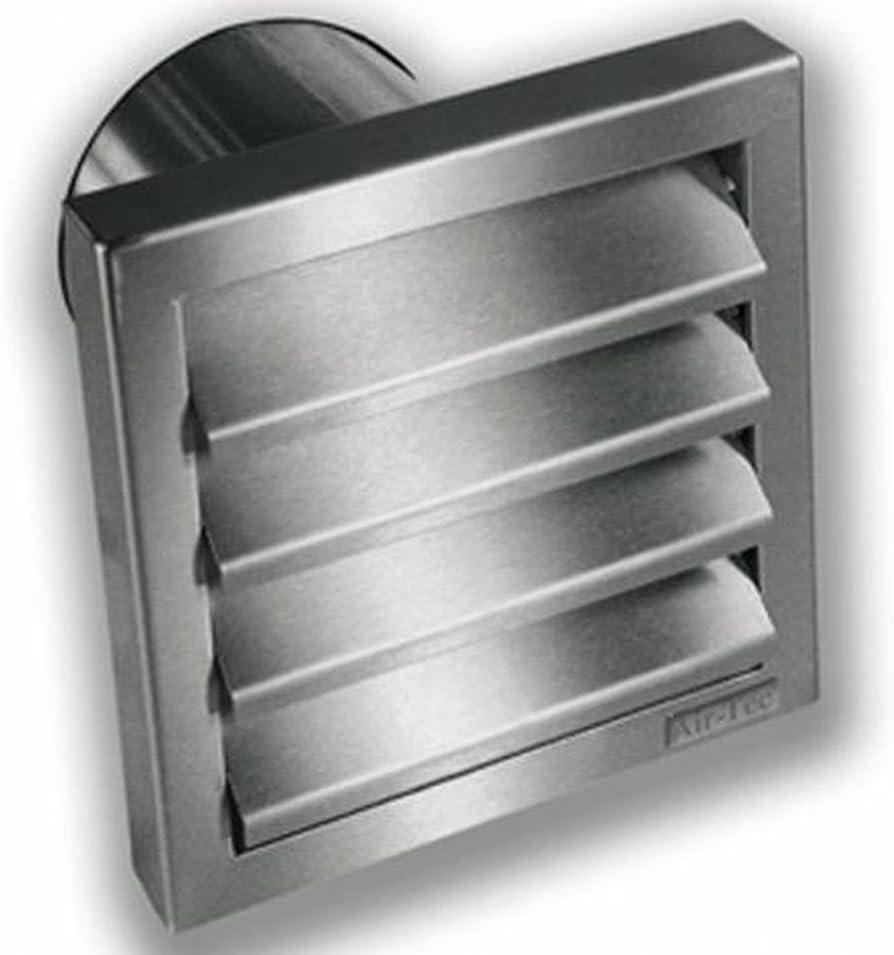 Rejilla Exterior de acero inoxidable diámetro de 100 unidades Sistema integrado Válvula antirretorno: Amazon.es: Bricolaje y herramientas