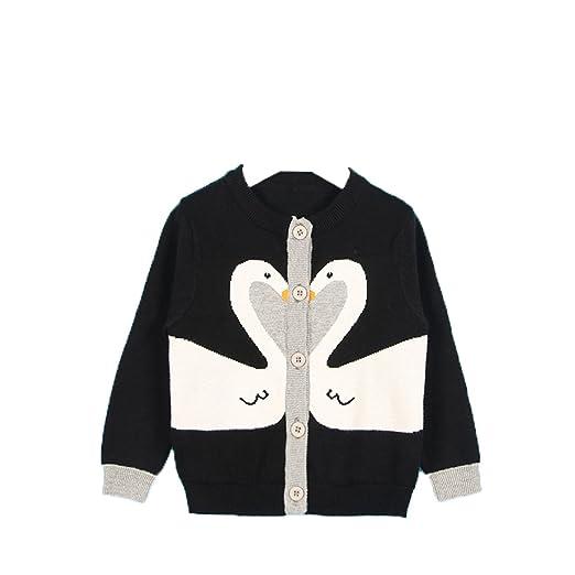 6430ed1e7285 Amazon.com  Lemonkid Girls Kids Button Cotton Knitwear Couple Swans ...
