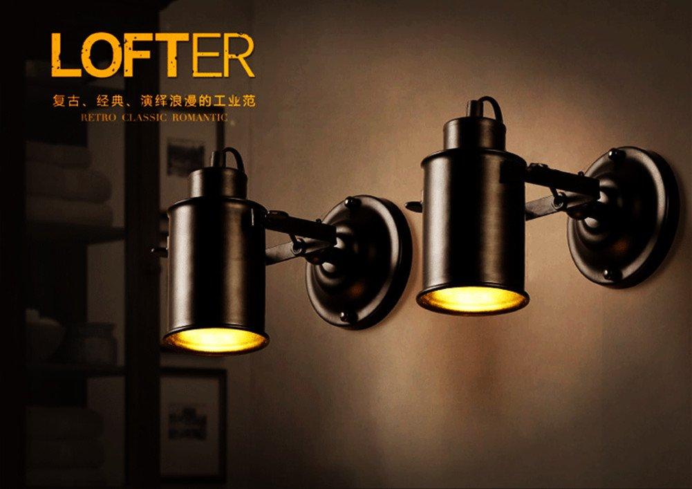 Xihome retro industrielle 1 spot plafonnier en métal noir créatif