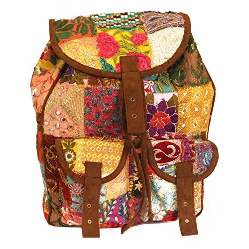 Ancient wisdom - Bolso mochila  de Ante para mujer marrón marrón