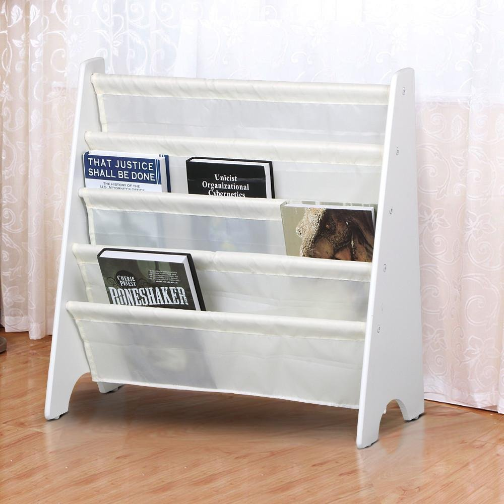cheaper 43b23 94ac0 tinkertonk Durable Children's Sling Bookcase 4 Compartments Space Boys &  Girls Book Magazine Storage