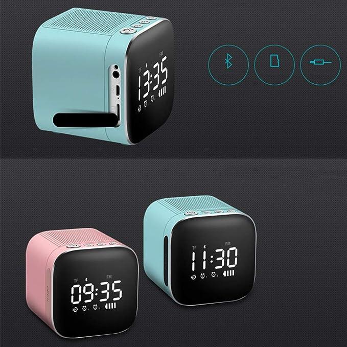 illuminazione a LED colorati batteria integrata chiamata vivavoce LEMEGA CR1 Radiosveglia portatili con altoparlante Bluetooth wireless Giallo