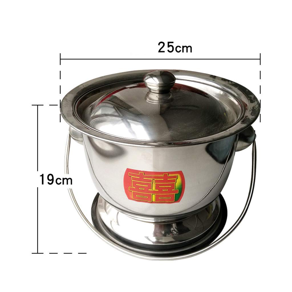 LZRZBH Stainless Steel Toilet Old Man from Night Urinal Potty Men and Women Urine Bucket Bedroom Home Bedpan Urinal Basin Potty Urinals Toilet,Spittoon Heightening Non-Slip Portable Toilets Urine Pot by LZRZBH