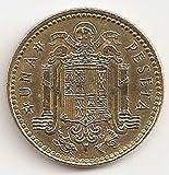 Spain 1 Peseta 1975 Juan Carlos I Coat of arms of Spain Europe Coins