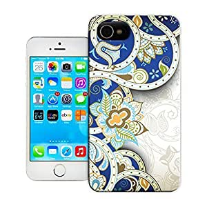 Unique Phone Case Blue and white lines Hard Cover for iPhone 4/4s cases-buythecase