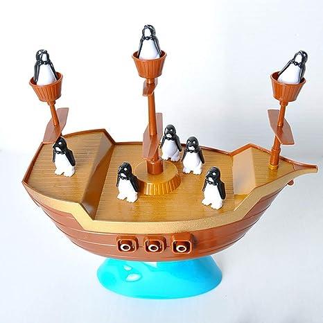LIPETLI Torre Tradicional Jenga Torre Colores Habilidad Corsario Pingüino Equilibrar Plastico Torre Bloques Juguete Habilidad Educativo Juego Equilibrio Torre Madera Apilamiento Bloques Niños Family: Amazon.es: Deportes y aire libre