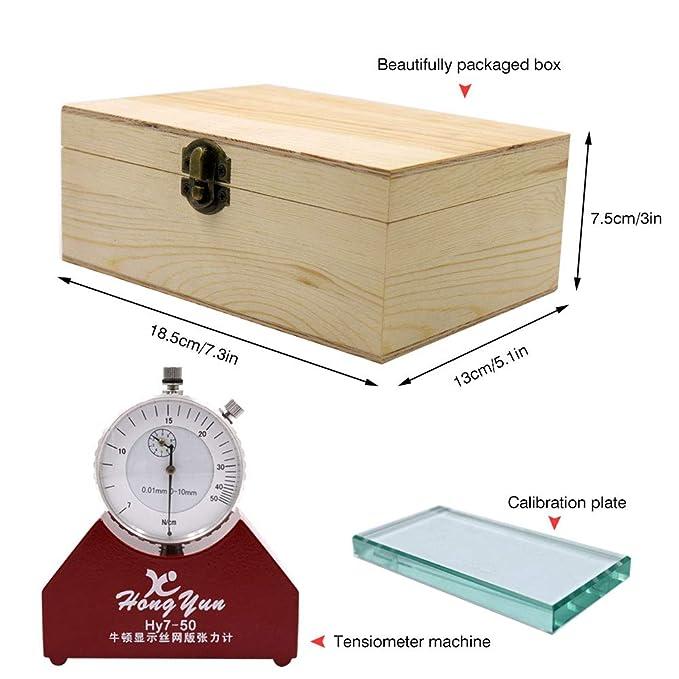 IDABAY Tensiómetro de alta precisión Medidor mecánico para la tensión de pantalla de seda 7-50N: Amazon.es: Salud y cuidado personal