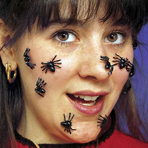 Creepy Crawlies Costume (Realistic Creepy Crawly Spiders 40 Pack)