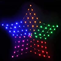 String Curtain Lights Mesh Net Lights Star Motif Lights Jingle Jollys