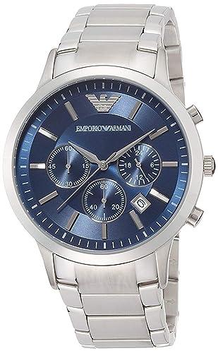 6e5d387727ba Emporio Armani Renato AR 2448 - Reloj de Pulsera para Hombre  Amazon.es   Relojes