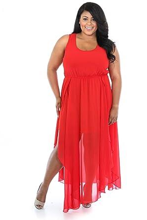 1fef3cdcf44e GITI ONLINE Sweetheart Maxi Dress 3X Tomato at Amazon Women's ...
