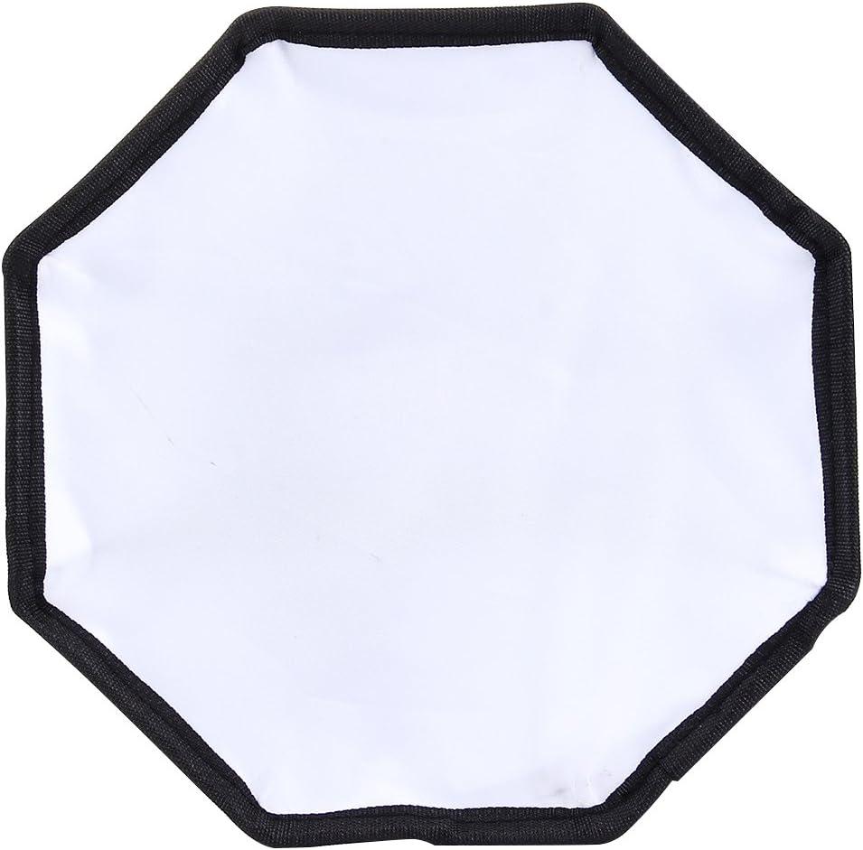 Without Flash Light Holder JINYANG JINYANG Softbox 20cm Universal Octangle Style Flash Folding Soft Box Black + White