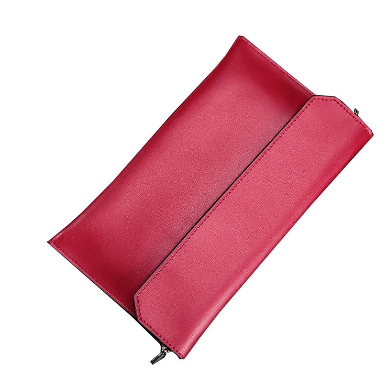 Santwo Women's Fashion Genuine Leather Evening Clutch Chain Single Shoulder Bag