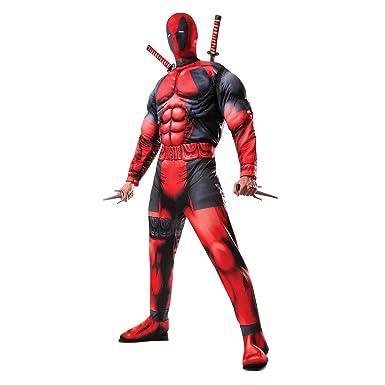 Amazon.com: Mens Official Marvel Deadpool Superhero ...