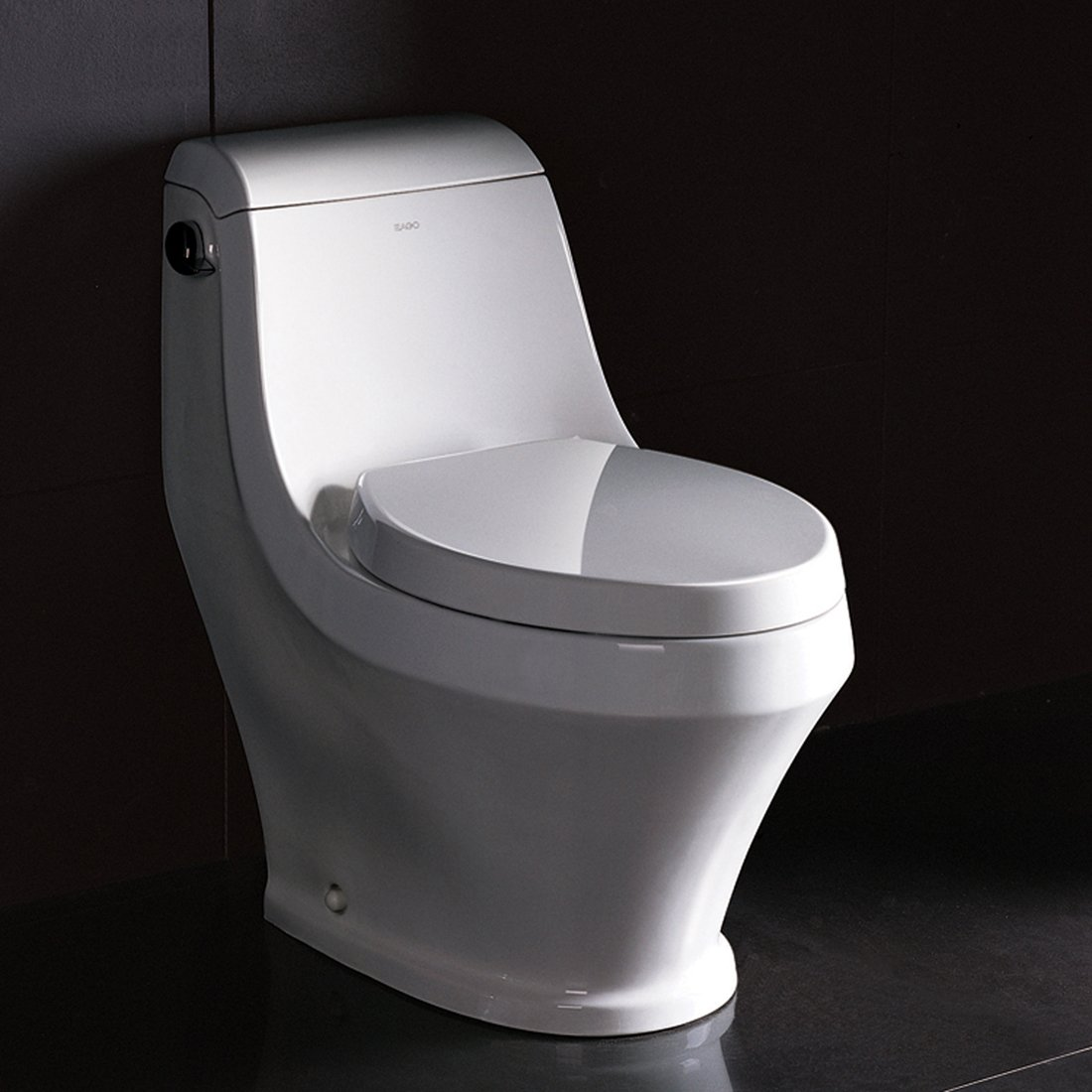 Ariel Platinum ''Apollo'' Contemporary One Piece White Toilet 28x14x26 by Ariel