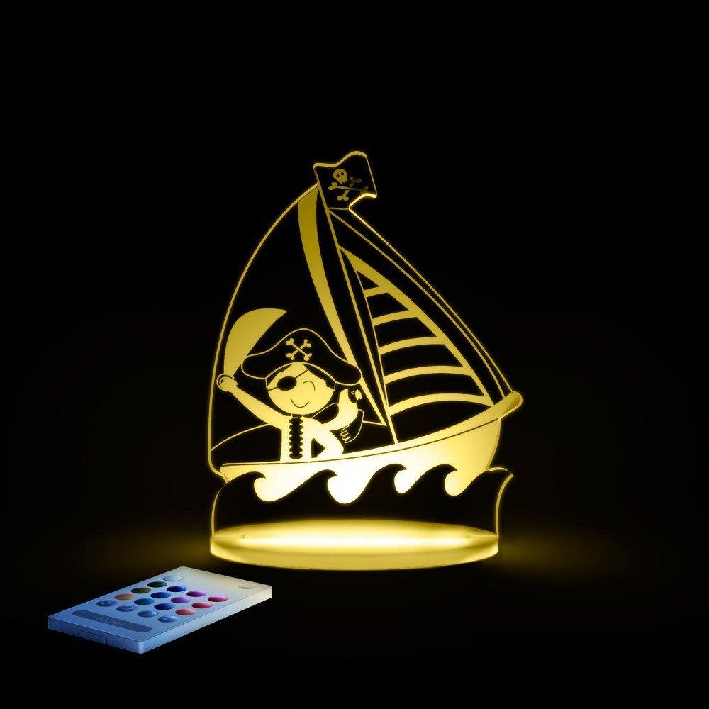 Aloka SleepyLight Pirate Ship Veilleuse Multi LED de Couleur avec TÉlÉcommande pour Enfants