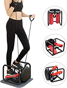 Weanas Mini Stair Stepper, 3 in 1 Portable Fitness Stepper Aerobic Trainer Foot Stepping Motion Cardio Exercise Machine (Mini 3 in 1)