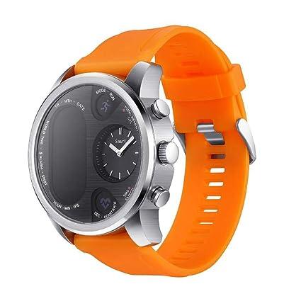 Hemobllo Smart Watch T3 Agua Densidad Tensiómetro de frecuencia cardíaca podómetro Pulsera (Café)