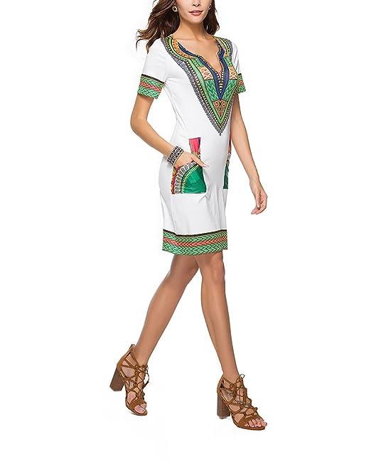 cafaa822b59f1 PengGengA Mujer Casual Vestidos Cóctel Fiesta Diario Playa Impresión Mini  Vestir  Amazon.es  Ropa y accesorios