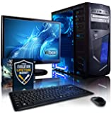 "Vibox Centre Package 10 Gaming PC - with Warthunder Game Bundle, 21.5"" HD Monitor, Keyboard & Mouse Set (3.7GHz AMD A4 Dual Core Processor, Radeon HD Graphics Chip, 1TB Hard Drive, 8GB RAM, AvP Mamba Blue LED Case, No Operating System)"