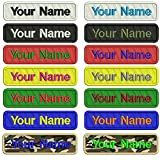 #7: Custom Embroidery Name Patches,2 Pieces Personalized Military Number Tag Customized Logo ID for Multiple Clothing Bags Vest Jackets Work Shirts