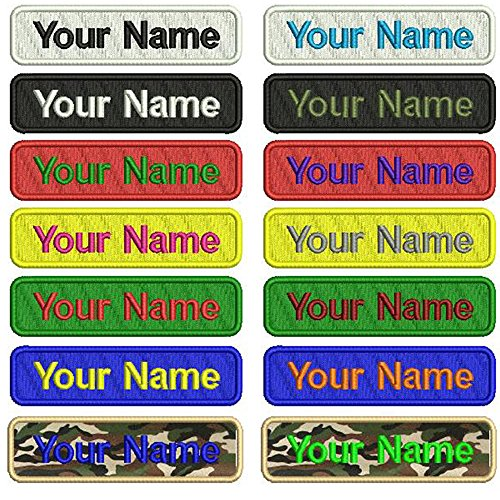 Best Review Of Graceful life Custom Embroidery Name Patches,2 Pieces Personalized Military Number Ta...