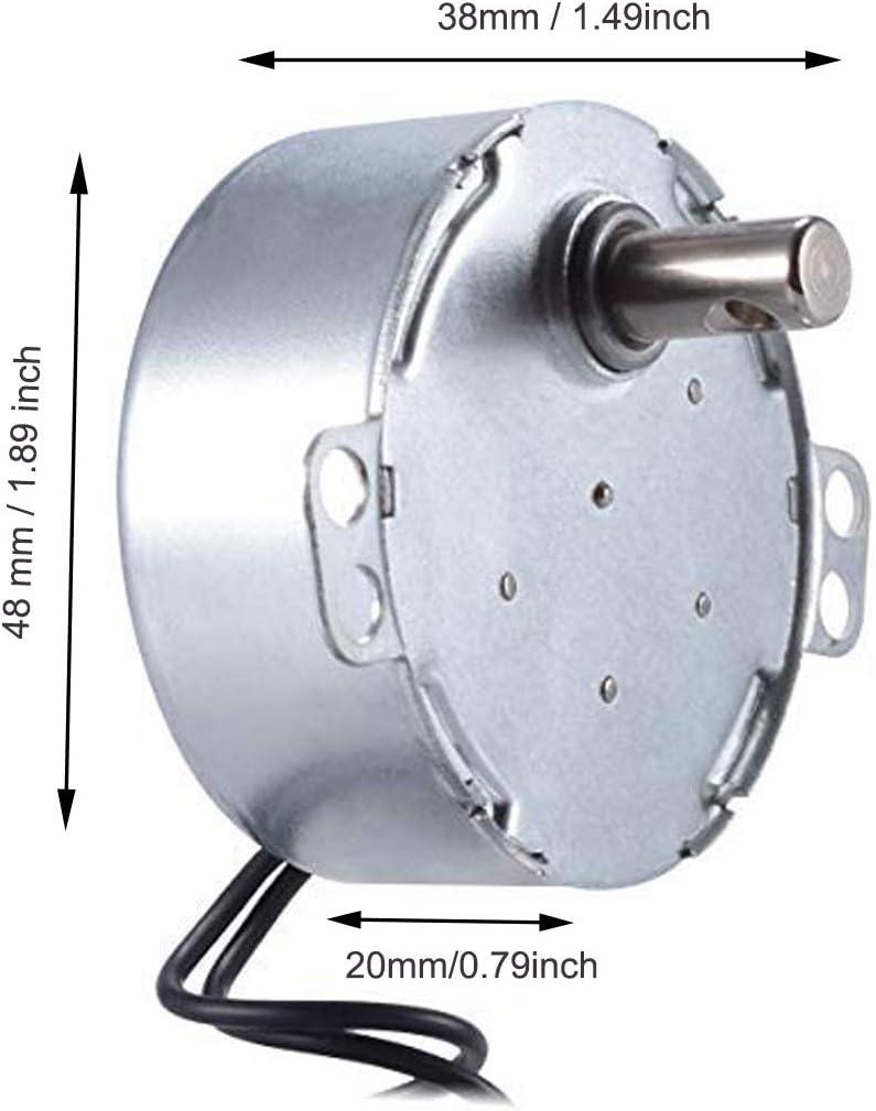 Amazon.com: Motor eléctrico 2,5/3 RPM con conector flexible ...
