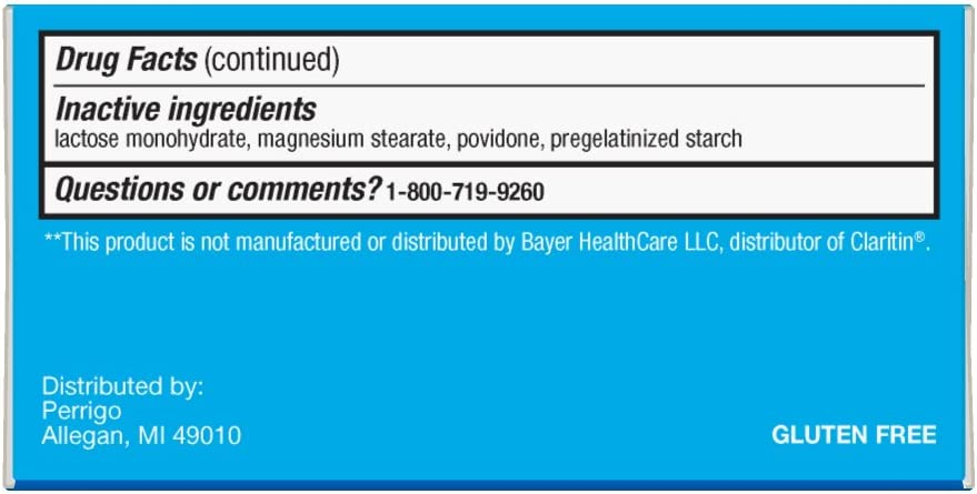 Basic Care Allergy Relief Loratadine Tablets 10 mg, 90 Count: Health & Personal Care
