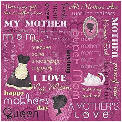 KAREN FOSTER Design Scrapbooking Paper, 25 Sheets, A Mothers Love Collage, 12 x 12
