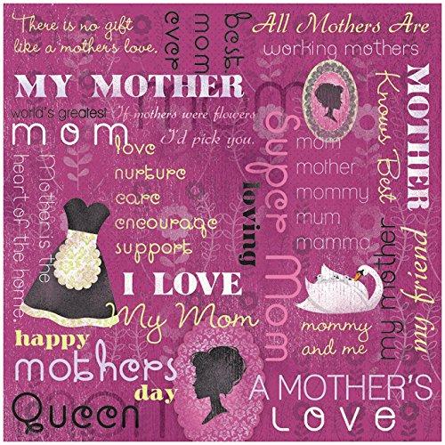 KAREN FOSTER Design Scrapbooking Paper, 25 Sheets, A Mother's Love Collage, 12 x 12