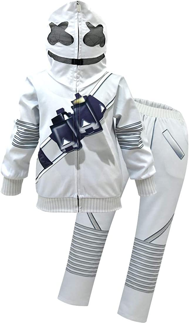 Kids DJ Funny Halloween Cosplay Costumes Electronic Dance Music Hoodies Jumper Clothse Sets