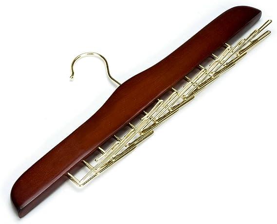 Ámbar casa de madera corbata y cinturón estante, para perchas con ...