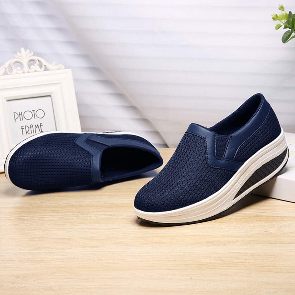 Chaussures décontractées pour Dames, Chaussures de Conduite, Mocassins, Baskets Confortables, Chaussures légères pour Femmes Bleu