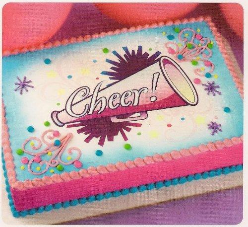 1 4 Sheet Cheer Cheerleader Birthday Edible Cake Cupcake Topper Amazon Grocery Gourmet Food