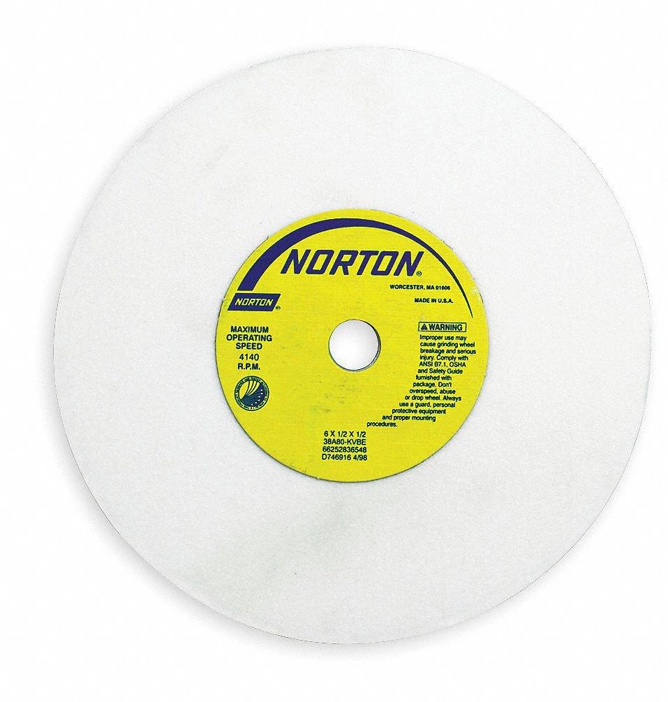 "38A60-HVBE 60 Grit Norton 7 x 1//2 x 1 1//4/"" Surface Grinding Wheel 38A White"