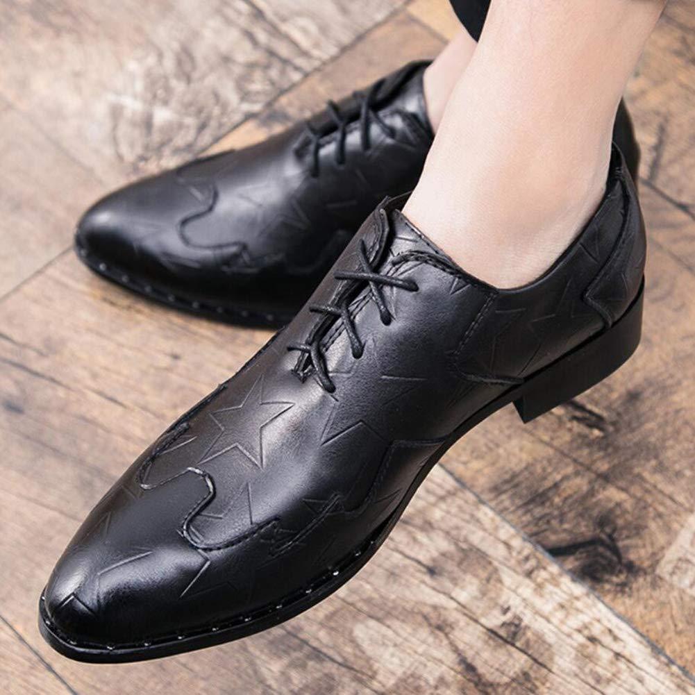 FuweiEncore Zapatos de Hombre, Zapatos Zapatos Zapatos de Cuero otoño otoño 2018, Zapatos de Negocios Formales, Zapatos de Vestir de Estilo británico, Zapatos de Tendencia Casual en Punta, Fiesta Casual de Boda 6d9fdb