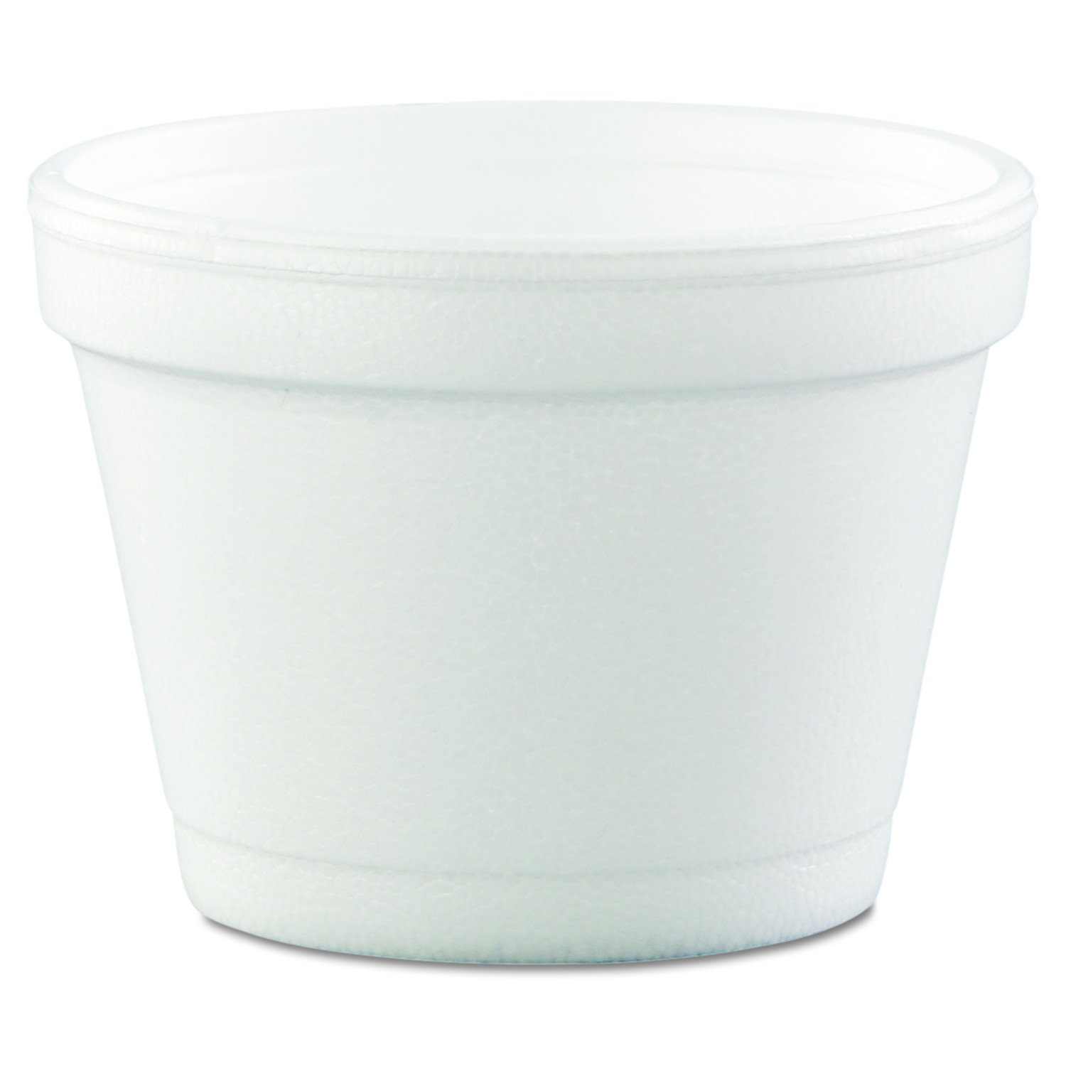 Dart 4J6 Bowl Containers, Foam, 4oz, White (Case of 1000)