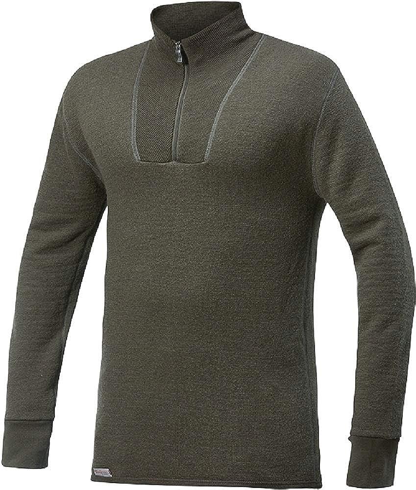 Thermounterw/äsche Woolpower 400 Turtleneck Long Sleeve Zipp Shirt Men