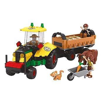 Ausini - Juego de construcción Granja y Tractor (ColorBaby 44638): Amazon.es: Juguetes y juegos