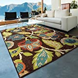 """Orian Rugs Indoor/Outdoor Floral Basil Brown Area Rug (3'10"""" x 5'5″) Review"""