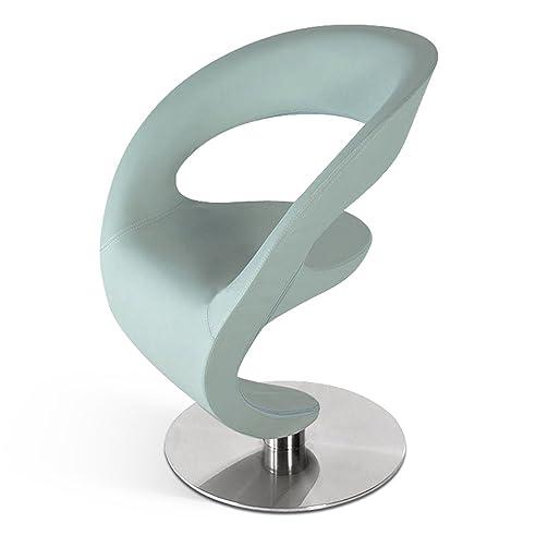 SAM® Drehstuhl Diabolo In Grau / Grün Stuhl Modernes Design, Sessel Mit  Angenehmer Polsterung