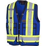 Pioneer V1010180-2XL Hi-Viz Surveyor's Safety Vest, Royal, 2XL