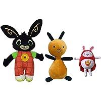 Bing Peluche Hoppity VOOSH E Flop Peluche Coniglio Bunny Serie TV H.28-25-20 CM.