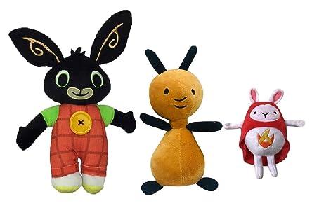 Bing Peluche Hoppity VOOSH E Flop Peluche Coniglio Bunny Serie TV H.28-25-20...