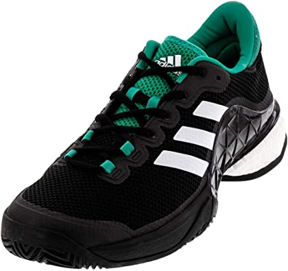 where can i buy classic fit wide varieties Adidas Men's Barricade 2017 Boost Men's Tennis Shoe Black/White ...