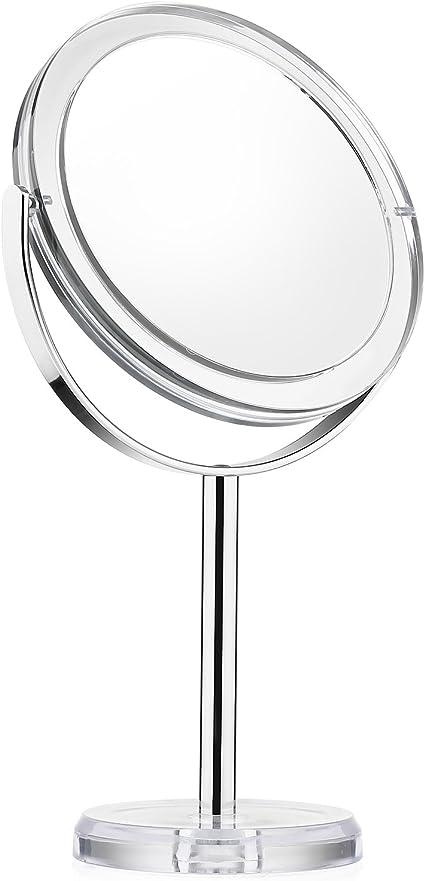 Beautifive Espejos de Maquillaje con Aumento 1x/7x, Espejo de Mesa ...