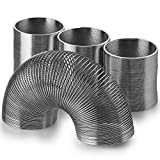 metal coil spring - Kidsco Metal Slinky Walking Spring Toy – 4 Pack - Novelty, Prize, Party Favor for Kids Teens and Adults