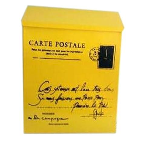 Carta Buzón de correos montado en la pared impermeable buzón con cerradura caja (, amarillo